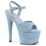 Blå Konstläder 18 cm ADORE-709FS högklackade sandaletter