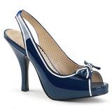 Blå Lackläder 11,5 cm PINUP-10 stora storlekar sandaler dam