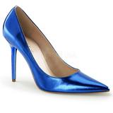 Blå Metallisk 10 cm CLASSIQUE-20 stora storlekar stilettos skor