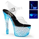 Blå Neon 18 cm CRYSTALIZE-308PS Platå högklackade skor