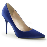 Blå Satin 10 cm CLASSIQUE-20 stora storlekar stilettos skor