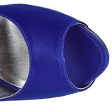 Blå Strass 13 cm LOLITA-08 Höga Pumps Festskor med Klack