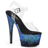 Blå glittriga klackar 18 cm ADORE-708SS pole dance skor
