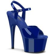 Blå platå 18 cm ADORE-709 pleaser high heels skor