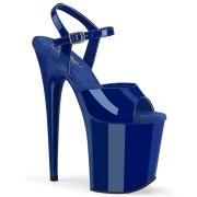Blå platå 20 cm FLAMINGO-809 pleaser high heels skor