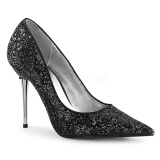 Black 10 cm APPEAL-20G pointed toe stiletto pumps with metal heels