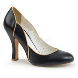 Black 10 cm SMITTEN-04 Pinup Pumps Shoes with Low Heels