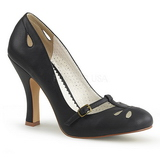 Black 10 cm SMITTEN-20 Pinup Pumps Shoes with Low Heels