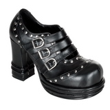 Black 10 cm VAMPIRE-08 lolita shoes gothic womens platform shoes