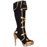 Black 11,5 cm ARENA-2012 womens boots with high heels