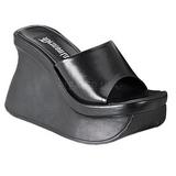 Black 11,5 cm PACE-01 Goth Platform Sandals Womens