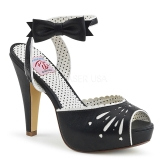 Black 11,5 cm Pinup BETTIE-01 high heeled sandals