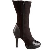 Black 11,5 cm SPLENDOR-130 womens platform soled ankle boots