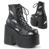 Black 12,5 cm CAMEL-201 goth lolita ankle boots platform
