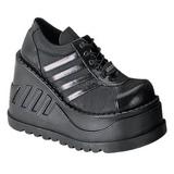Black 12,5 cm STOMP-08 lolita shoes gothic wedge platform shoes