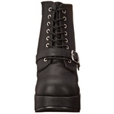 Black 13 cm BRAVO-23 Platform Wedge Ankle Boots