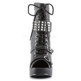 Black 13 cm BRAVO-89 Platform Wedge Ankle Boots