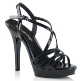 Black 13 cm Fabulicious LIP-113 high heeled sandals