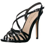 Black 13 cm Pleaser AMUSE-13 high heeled sandals