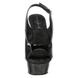 Black 15 cm DELIGHT-654 Womens Shoes with High Heels
