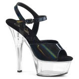 Black 15 cm Pleaser KISS-209BHG Platform High Heels Shoes