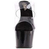Black 18 cm ADORE-702 Platform Mules Shoes