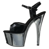Black 18 cm ADORE-709 Chrome Platform High Heel