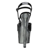 Black 18 cm ADORE-709 Chrome Platform High Heel