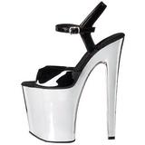 Black 20 cm XTREME-809 High Heels Chrome Platform