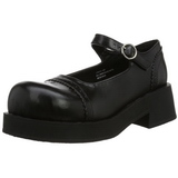 Black 5 cm CRUX-07 lolita shoes gothic womens platform shoes