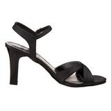 Black 8,5 cm ROMANCE-313 Womens High Heel Sandals