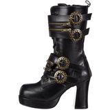 Black 9,5 cm GOTHIKA-100 lolita ankle boots goth platform boots