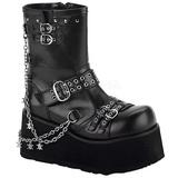 Black 9 cm CLASH-430 lolita ankle boots goth platform boots