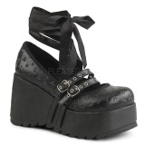 Black 9 cm DEMONIA SCENE-20 gothic platform shoes