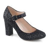 Black 9 cm SABRINA-07 Pumps Shoes with Cuben Heels