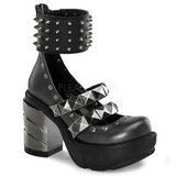 Black 9 cm SINISTER-62 lolita shoes gothic womens platform shoes