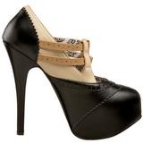 Black Beige 14,5 cm Burlesque TEEZE-24 Womens Shoes with High Heels