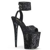 Black Glitter 20 cm FLAMINGO-891LG High Heels Platform