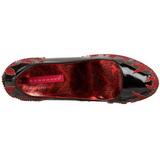 Black Glittering Stones 14,5 cm Burlesque TEEZE-27 Womens High Heels Shoes