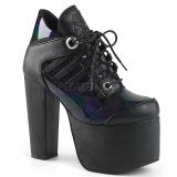 Black Hologram 14 cm TORMENT-216 lolita ankle boots platform