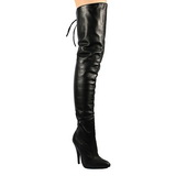 Black Leather 13 cm LEGEND-8899 Thigh High Boots for Men