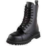 Black Leather ROCKY-10 Punk Ankle Boots Gothic Mens Boots