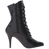 Black Leatherette 10,5 cm VANITY-1020 Womens Ankle Boots for Men