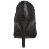 Black Leatherette 10 cm VANITY-420 Pumps High Heels for Men