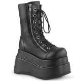 Black Leatherette 11,5 cm BEAR-265 demonia ankle boots platform