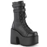Black Leatherette 12,5 cm CAMEL-250 demonia ankle boots platform