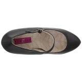 Black Leatherette 13,5 cm CHLOE-02 big size pumps shoes