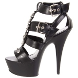 Black Leatherette 15 cm DELIGHT-658 pleaser shoes with high heels
