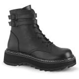 Black Leatherette 3 cm LILITH-152 demonia ankle boots platform