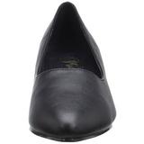 Black Leatherette 5 cm FAB-420W Pumps with low heels
